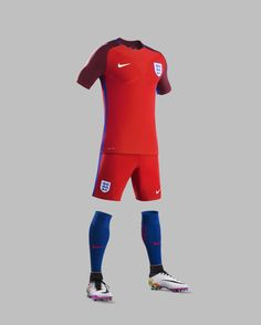 England have unveiled their new 2016 home and away kits ahead of this summer's European Championships in France.