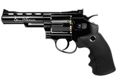 Dan Wesson 4 CO2 BB Revolver, Black. Air guns.     *   Dan Wesson BB revolver     *   12-gram CO2 cartridge     *   6-rd BB cylinder     *   Fixed front sight     *   Adjustable rear sight...