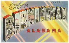 Greetings from Birmingham, Alabama by Boston Public Library, via Flickr