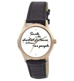 Quote-on (Smile) Leather Watch