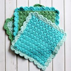 Easy Crochet Dish Cloth Free Pattern