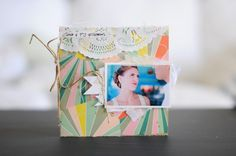 Mini album created using products from our Acorn Avenue Collection. #scrapbooking #Cratepaper