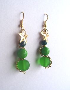 Christmas Tree Earrings by TheWhimsicalWodgelet on Etsy, $8.00