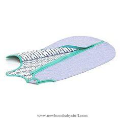 Baby Girl Clothes baby deedee Sleep Nest Lite Baby Sleeping Bag, Heather Gray/ Teal, Large (18-36 Months)