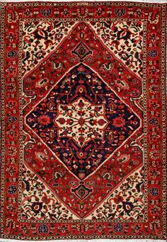 "Buy Bakhtiari Persian Rug 6' 9"" x 9' 9"", Authentic Bakhtiari Handmade Rug"