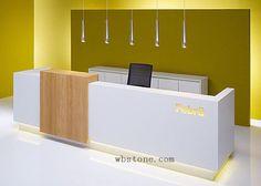 Hotel white information reception desk RE056