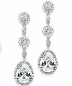 Gorgeous CZ Earrings for Wedding or Prom