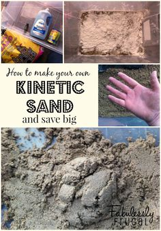 How to make your own Kinetic Sand | Fabulessly Frugal