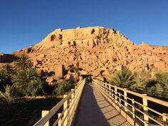 On the way to Aït Ben Haddou (in Berber languages: ⴰⵢⵜ ⵃⴰⴷⴷⵓ; and in Arabic: آيت بن حدّو) . It is an ighrem (fortified village in English) (ksar in Arabic), along the former caravan route between the Sahara and Marrakech.  Listen carefully and you can hear the traders barter for camels, turmeric and woolen carpets.  Or pretend that you are a character from the Game of Thrones.  Many episodes are filmed here.
