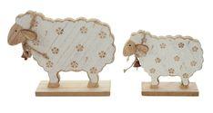 """Holz-Deko """"Blümchen-Schaf"""", 2er Set jetzt für 6,40 € kaufen im Frank Flechtwaren und Deko Online Shop Animal Cutouts, Sheep Crafts, Tole Painting Patterns, Wooden Cutouts, Wood Animal, Woodworking Inspiration, Sunday School Crafts, Wood Ornaments, Wreaths"""