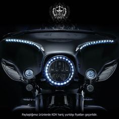"""""""Lighted Bat Lashes, Black Chrome 1996-2015 for H-D Electra Glide and Street…"""