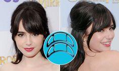 Lily Collins lançou mão do bumpit para fazer o penteado com volume