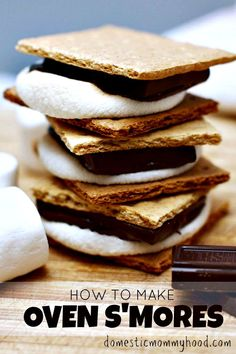 How to Make Smores in the oven perfectly every time!! With just a few minutes prep and a couple minutes in the oven, you will soon have a scrumptious treat