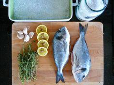 dorada fish will be roasted in salt