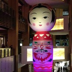 """Hanako"". Japanese traditional doll. Huge! #Roppongi Art  Night"