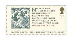 Royal Mail Briefmarke zur Magna Carta 2015