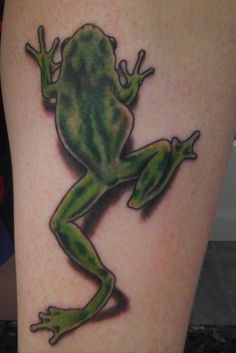 """Frog"" by Ben at Psycho City Tattoo Lancaster, CA"