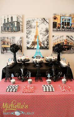 """Fashionist Paris Inspired Party Michelle's Party Plan-It: """"A Day in Paris"""" Dessert Table"""