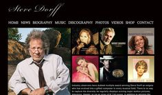 Grammy nominated composer, Steve Dorff, does an excellent job highlighting his discography right up front on his Home page.