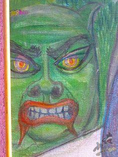Ablakon kitekintő nő, akit az ördög megkísért., Műtárgy, Művészet Akita, Modern, Painting, Trendy Tree, Painting Art, Paintings, Painted Canvas, Drawings