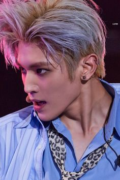 NCT's Taeyong has dyed his hair in every color in the spectrum. With so many color changes in a short amount of time, fans wonder what he would do once he Taemin, Shinee, Nct Taeyong, Nct 127, Capitol Records, Jack Frost, Nct Dream, K Pop, Baekhyun