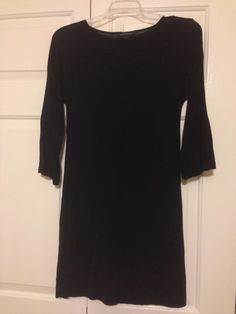 Size small Banana Republic black 3/4 sleeve dress. Plain jersey. Comfortable! $15 shipped