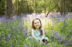 Spring Family Photography in Surrey bluebell photography