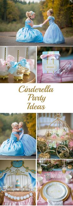 Cinderella Birthday Party Via Blossom Disney Princess Birthday Party, Cinderella Birthday, Girl Birthday, Cinderella Theme, Birthday Crowns, Princess Theme, 4th Birthday Parties, Birthday Ideas, Princesas Disney