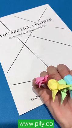 origami Diy Crafts Hacks, Diy Crafts For Gifts, Diy Arts And Crafts, Creative Crafts, Paper Crafts Origami, Paper Crafts For Kids, Diy Paper, Paper Craft Work, Instruções Origami