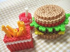 *アイロンビーズでハンバーガーセット*の作り方|その他|ビーズ|アトリエ|手芸レシピ16,000件!みんなで作る手芸やハンドメイド作品、雑貨の作り方ポータル
