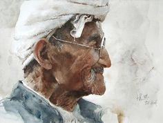 Watercolor by Guan Weixing