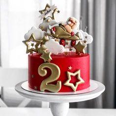 No photo description available. Buttercream Cake, Fondant Cakes, Cupcake Cakes, Milo Cake, Funny Birthday Cakes, Cake Birthday, Cake Designs For Girl, Beautiful Birthday Cakes, Birthday Cake Decorating
