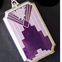 BEAUTIFUL ART DECO SILVER AND ENAMELED COMPACT PURSE ~ 1920'S