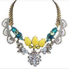 Fashion-Jewelry-Pendant-Chain-Crystal-Choker-Chunky-Statement-Bib-Necklace