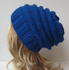 Womens Slouchy Hat Knit Hat Womens Accessories by selmahandcraft