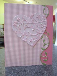 heart over swirl cut card