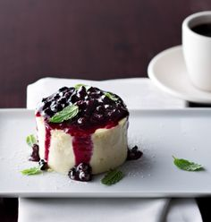 Huckleberry Cheesecake from Chops Grille. #quantumoftheseas #thischangeseverything