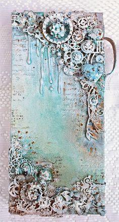 Shimmerz Mixed Media Canvas with Shona