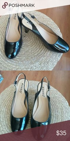 Shoes Black patten leather, never worn, New without tags. Shoes Heels