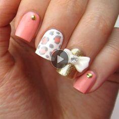 Cute 3D Bow Nail Art!!!