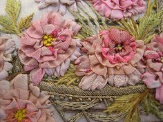 ribbonwork panel by Vintage to Victorian, via Flickr