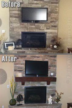 mantels for fireplaces ideas   Fireplace Mantel Shelves - Design Ideas