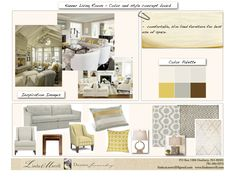 Yellow, grey concept board