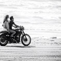 motorcycle rides - I would love to ride on the beach! - repined by http://www.vikingbags.com/