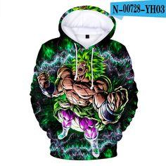 CIZEUR Boys Dragon Ball Hoodies Z Goku 3D Japanese Anime Print Pullover Sweatshirt with Cool Drawstring Long Sleeve