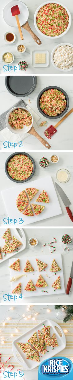 Try making these Tree Pops with your kids! Follow these easy instructions to transform the Original Recipe into something a little more festive. For a pop of holiday colour, make them with Rice Krispies® Holiday Edition cereal. #RiceKrispies #HolidayBaking #HolidayTreats #EdibleGifts #Tree #Pops
