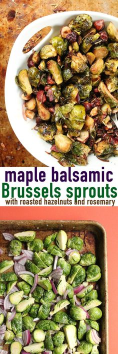 These vegan maple balsamic Brussels sprouts are the perfect vegetable side dish for your holiday meals. Click the photo for the full recipe. Holiday Meals, Holiday Recipes, Balsamic Vinegar, Maple Balsamic, Nut Milk Recipe, Frozen Dog Treats, Brussels Sprouts, Greek Yogurt, Beverage