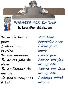 French love phrases for dating