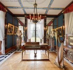 Intérieur du salon de musique de Joséphine à Malmaison - Musée national du château de Malmaison - (site officiel).