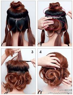 Cute and easy hairstyle. Pretty. :)
